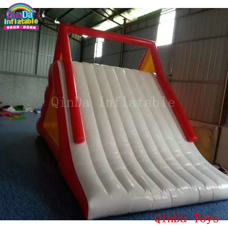 2017 popular red color slides for children,giant inflatable water slide for pool popular best quality large inflatable water slide with pool for kids