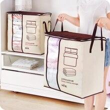 Hot Non-Woven Family Save Space Organizador Bed Under Closet Storage Box Clothes Divider Organiser Quilt Bag Holder Organizer