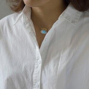 Image 5 - Lotus Fun, pendentif, sans chaîne, en argent Sterling 925, véritable Labradorite naturel, bijoux fins intéressant, cils en or pour femmes