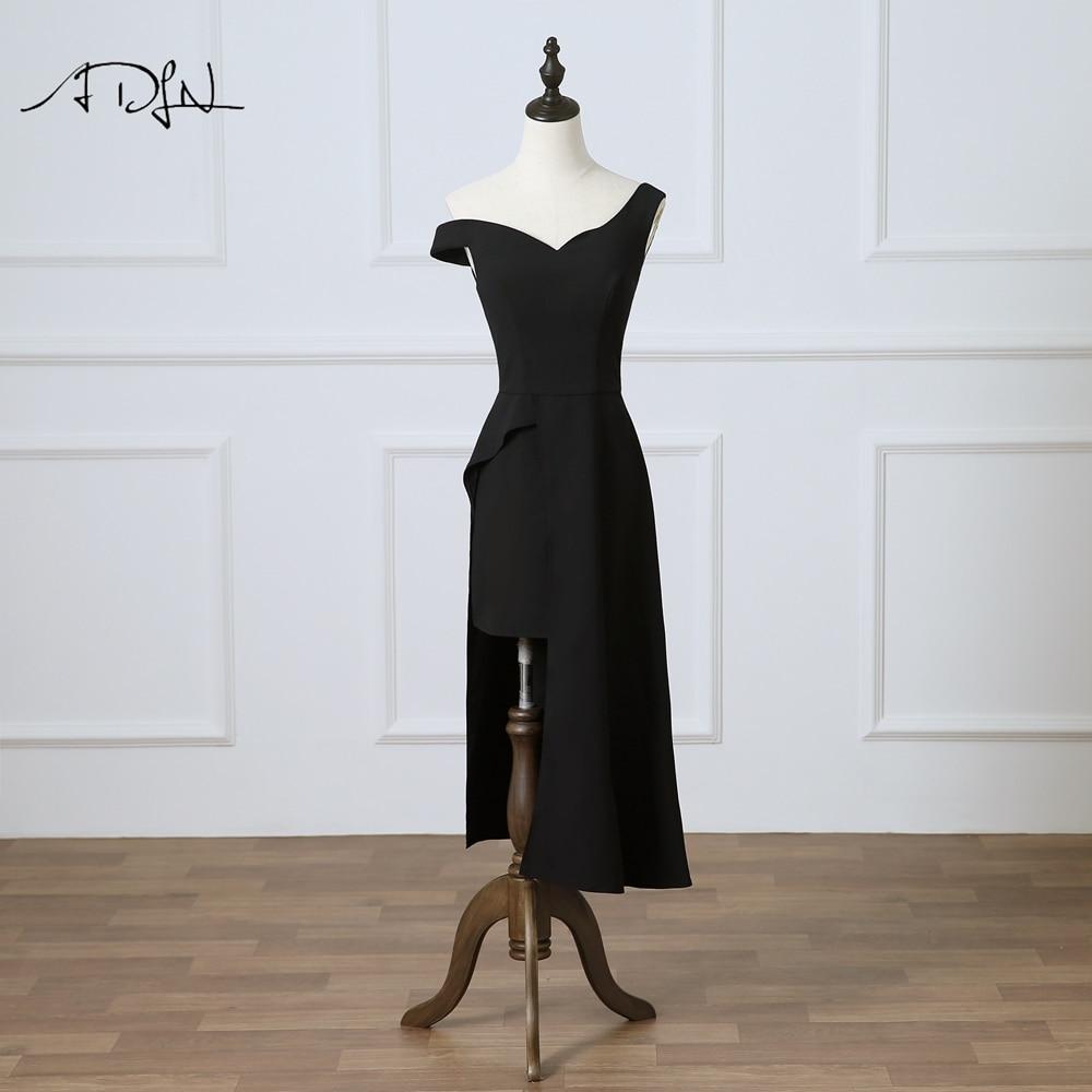 ADLN White Party   Dress   One-shoulder Asymmetrical Little Black   Dress     Cocktail     Dresses   Short Vestidos de Fiesta Curto