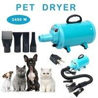 Portable Dog Cat Pet Grooming Dryer 2400w Salon Blow Hair Dryer Quick Draw Hairdryer Different 4 Nozzles Pet Hairdryer Machine S