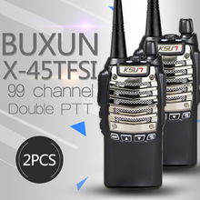 (2PCS) BUXUN X-45tfsi two way radio fidelity sound quality Hotel civil making a hand walkie talkie