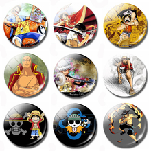 Cartoon One Piece 30MM Fridge Magnet Monkey D Luffy Gol D Roger Kids Gift Glass Magnetic Refrigerator Stickers Note Holder Decor цена и фото