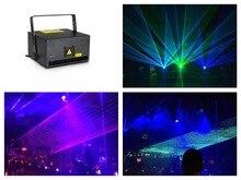 flightcase + Full color 5W RGB Animation Laser Stage Light Analog 40Kpps scanner ILDA Control event wedding party цена