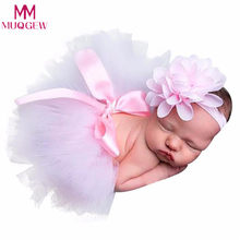 Newborn Baby Girls Boys Costume Photo Photography Prop Outfits Headband Skirt fotografia bonnet enfant Newborn Accessories(China)