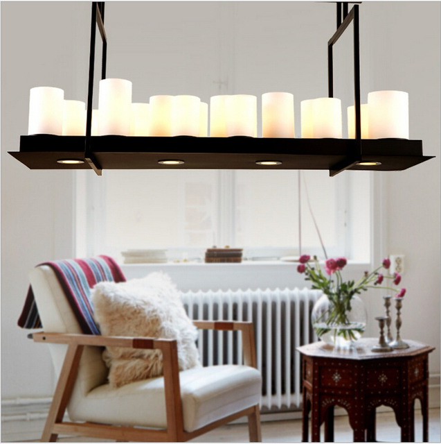 Weinlese Kevin Reilly Altar Frankreich Country Style Candle Led  Pendelleuchte Eisen Glas Kreative Neue Esszimmer Lampe