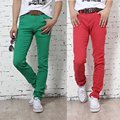 Korean fashion casual men jeans pants Stretch Slim fit trousers Jean pants Retail Candy Color 9 Colors Size S-XXXL