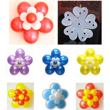 5 In 1 Balloon Modelling Seal Clip Sticks Plum Flower Tie Latex Sealing Clips Wedding Party Decoration