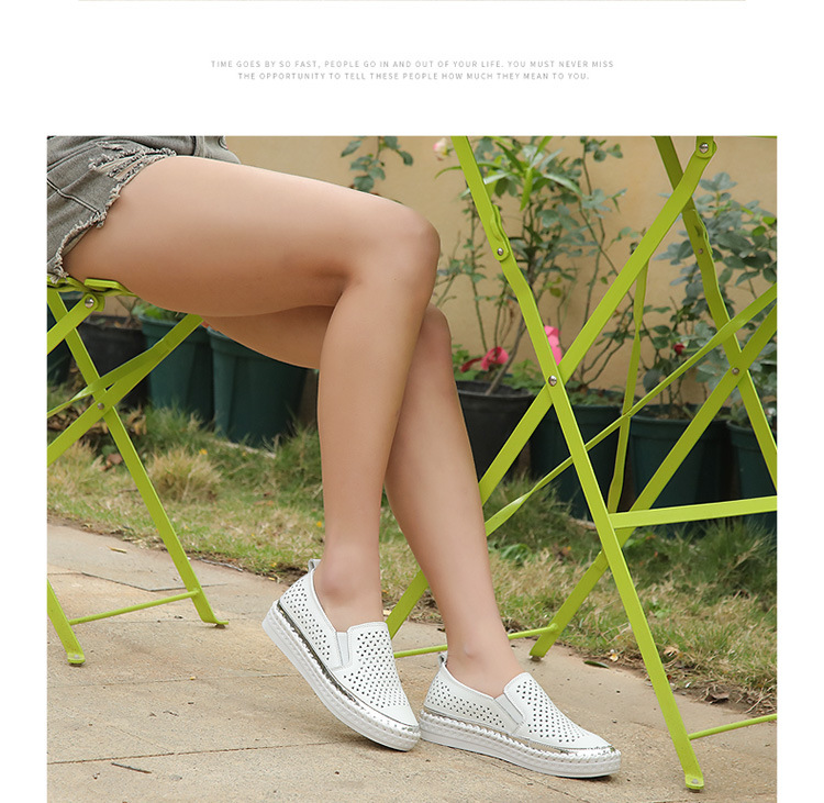 Round Leather Shoes Split 8