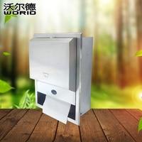 Montado na parede de aço inoxidável de indução auto máquina de papel titular rolo de papel higiênico papel tissue dispenser sensível X-3388A