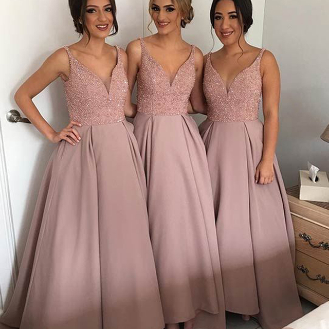 Kleid hochzeit gast rosa
