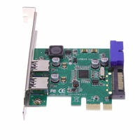 Free POST 1 Pcs SuperSpeed 2 Port USB 3 0 19 Pin USB3 0 PCI