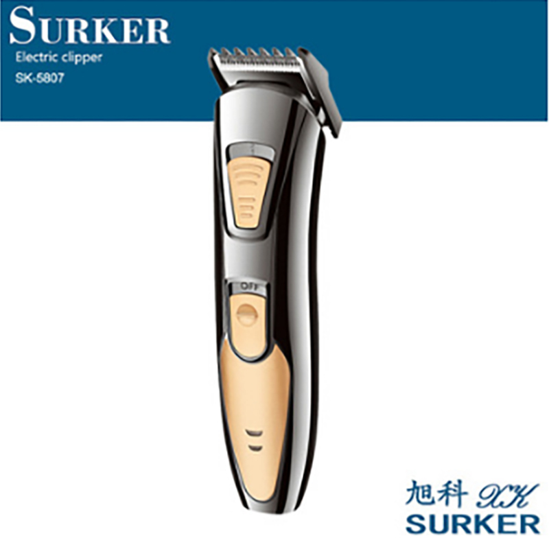 SURKER SK-5807 Professional Rechargeable Electric Hair Clipper Household Hair Trimmer Kit Adult Child Haircut Machine EU Plug new surker hc 575 rechargeable silent electric trimmer hair trimmer led display electric fader haircut machine with eu plug