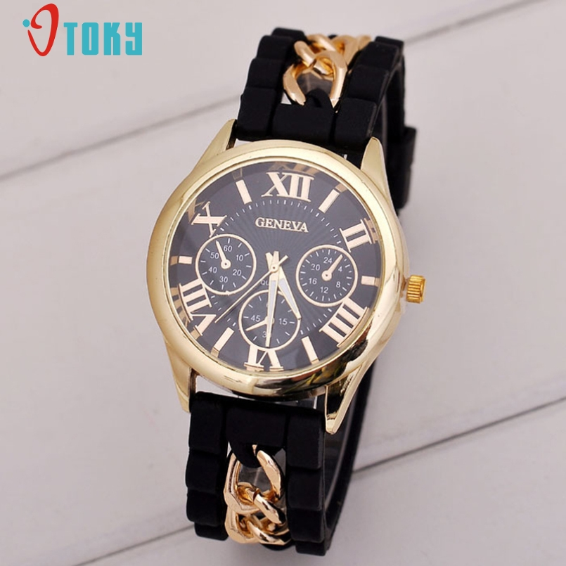 Excellent Quality 2017 Top Soft Silicone Roman Numerals Strap Jelly Quartz Watch Wristwatches For Women Ladies Lovers Jan-12