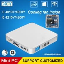 XCY Mini PC Core i3 i5 4010Y 4200Y 4 Г RAM 128 Г SSD Небольшой Настольных Компьютера HTPC Windows10 WIFI VGA HDMI Вентилятор Охлаждения внутри