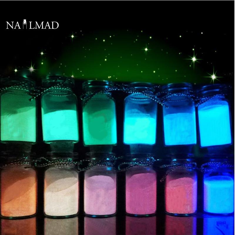 Aliexpress.com : Buy 12 Colors Luminous Nail Polish Powder