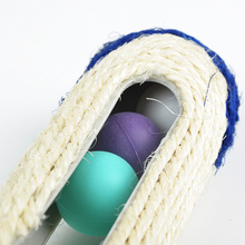 Cat Scratch Board Toy Pet Supplies Cat Rack Rolling Sisal Scratching Post Trapped Ball Training Tool