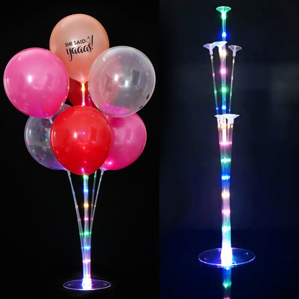 LED Light Balloon Plastic Accessory Base Table <font><b>Support</b></font> Holder Cup Stick Stand Party Decor image