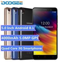 Cellphone Cheap 3G Mobile Phone X100 5.0 inch Android 8.1 Celular MTK6580 Quad Core 1GB RAM 8GB ROM 4000mAh WIFI GPS Smartphone