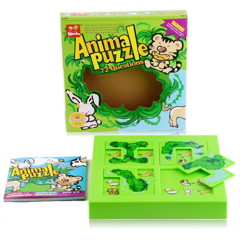 Qualité Nouveaux Enfants Labyrinthe Animal Puzzle IQ Esprit Logique Casse-tête Casse-têtes Jeu Jouets pour Enfants 72 Questions