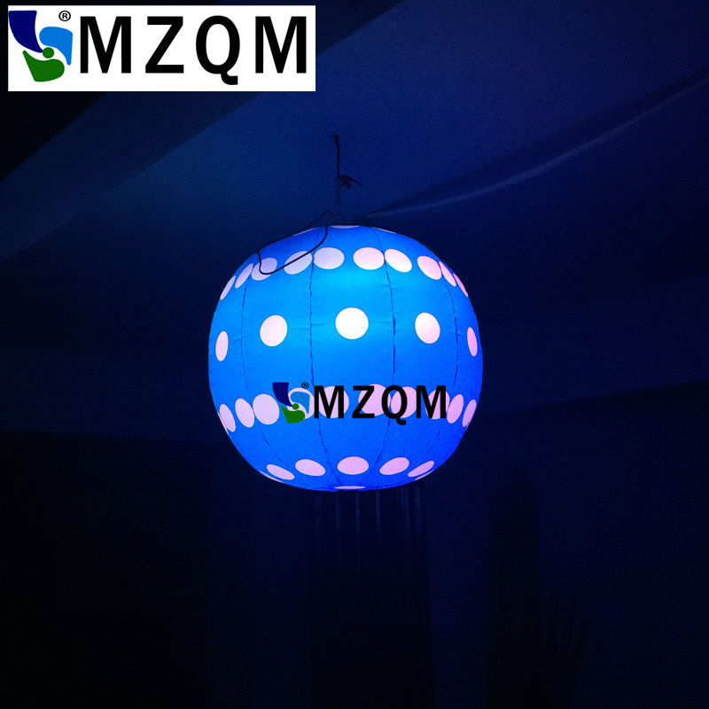 MZQM 1.5m Bueatiful Ceiling decoration inflatable blue ball with LED Lights for Night Club, Party decoration Inflatabl moon ao058m 2m hot selling inflatable advertising helium balloon ball pvc helium balioon inflatable sphere sky balloon for sale