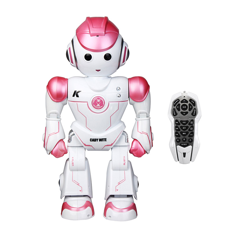LEORY Intelligent Programming Remote Control Toy Robot  RC Cute Biped Humanoid Robot For Children Kids Birthday Gift Present