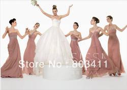Freeshipping Новый Смешанный Заказ Серии Стиль Природных Грейс длиной до пола Шифон Платья для Подружек Невесты