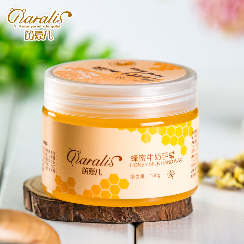 все цены на Daralis Milk Honey Paraffin Wax Hand Mask Hand Care Moisturizing Whitening Skin Care Exfoliating Calluses Hand Film онлайн