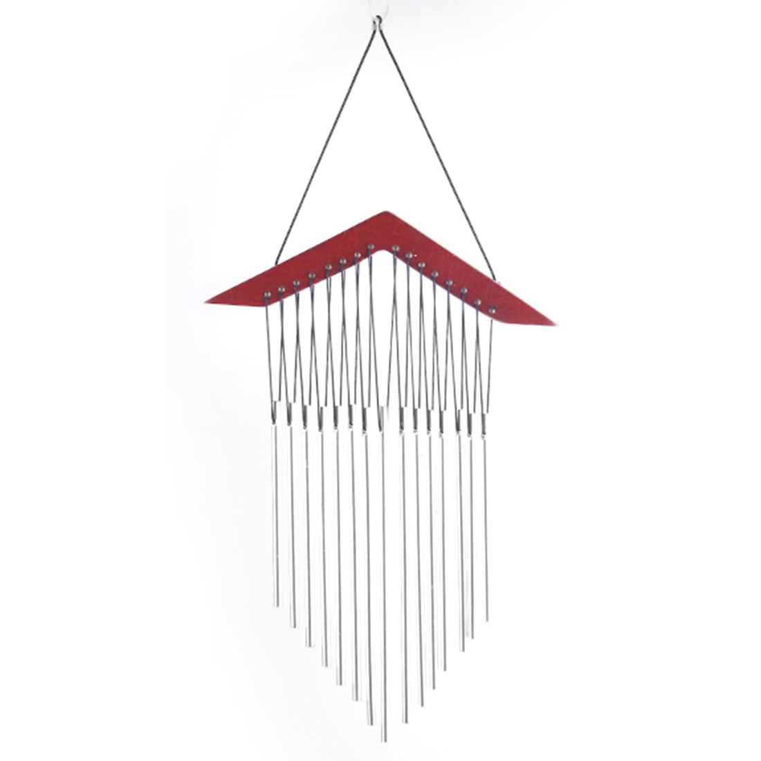 SDFC-Roof type 15 tube wood music wind chimes creative birthday gift bedroom balcony courtyard garden outdoor metal pipe wind