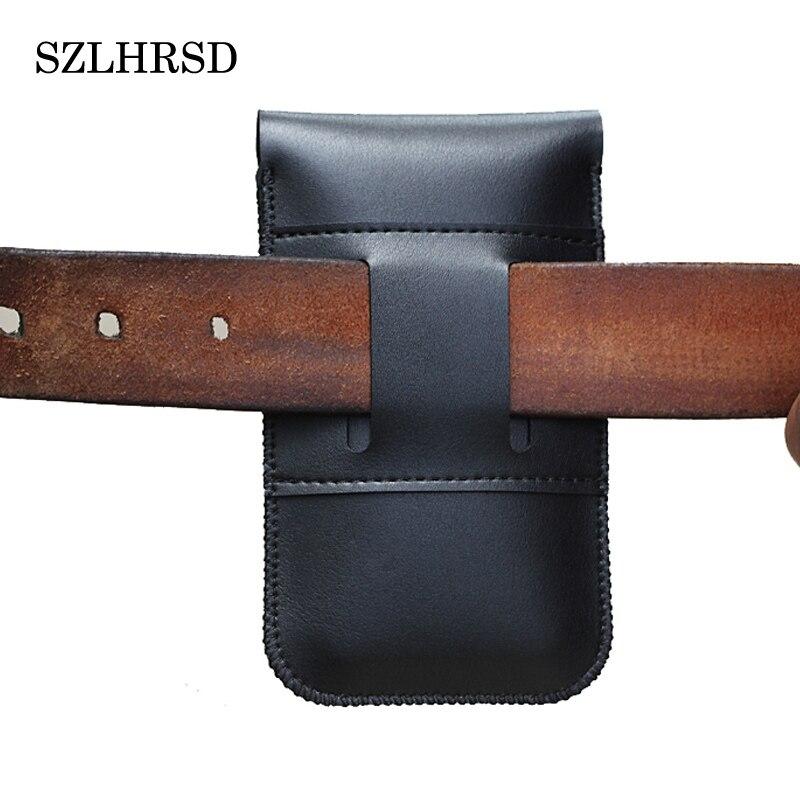 SZLHRSD Men S Leather Belt For Ulefone S8 Pro Vernee Thor Plus UMIDIGI S2 Pro Phone