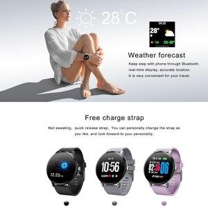 Image 2 - V11 Smart Horloge Mannen Reloj Inteligente Activiteit Fitness Tracker Hartslagmeter Smartwatch IP67 Waterdicht Polsbandje Horloge