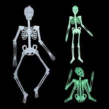 1 PC Horror Movable Skeleton Glow In Dark Halloween Decals