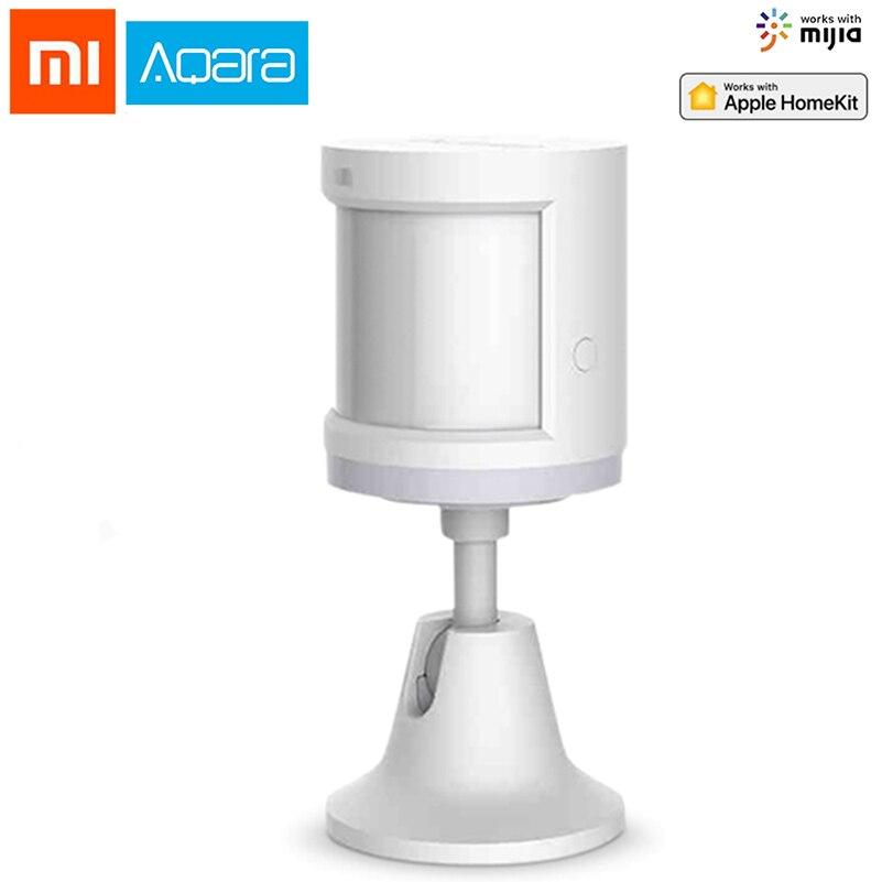Xiao mi Aqara Proteção de Segurança Do Sensor De Movimento Do Corpo Humano Sensor de Movimento Inteligente Zigbee Conexão mi Casa App Via Android & IOS