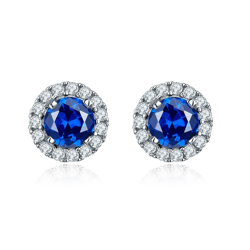 crystal silver jewelry stud earrings DE19120H (6)