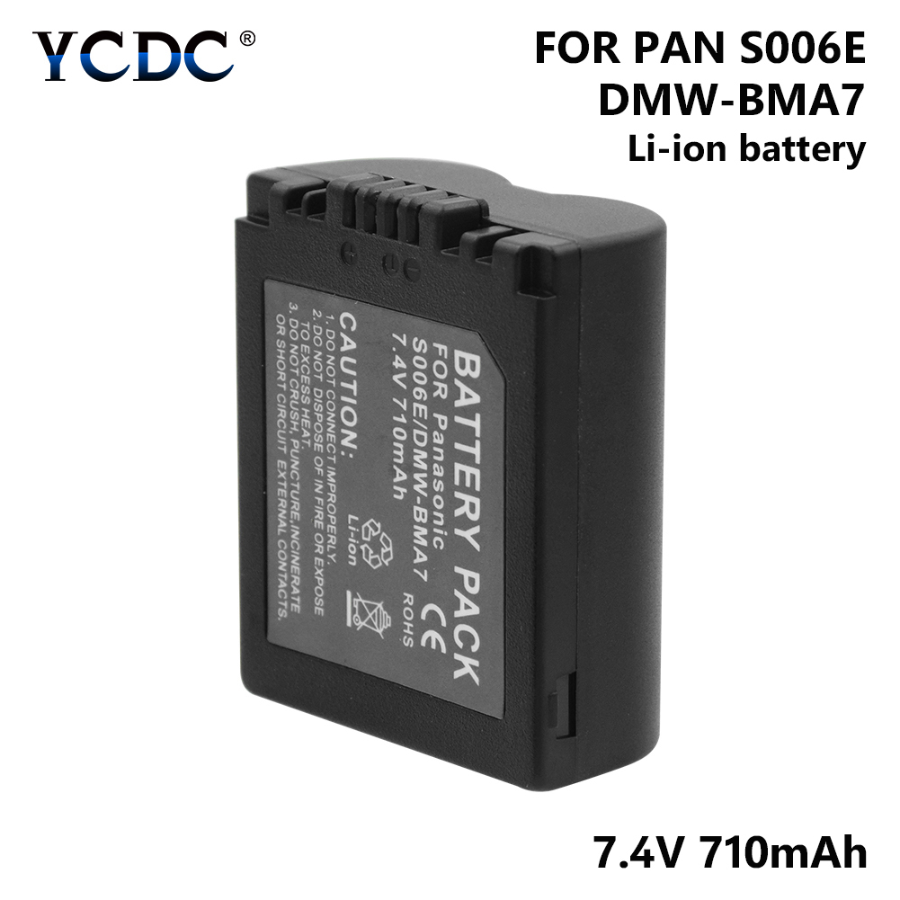 1/2 Pcs 7.4V 710mAh Li-ion Lithium Battery S006E CGR-S006E DMW-BMA7 For Panasonic Lumix DMC-FZ7 DMC-FZ8 DMC-FZ18 DMC-FZ28 Camera