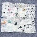 Toalha de bebê 10 pçs/lote 100% algodão 28*28 cm toalha lenços duas camadas limpar toalha de musselina