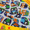 Free Shipping Owl Design Digital Print Minky Used For Baby Boy Blanket Baby Pillow