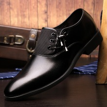 Male Dress Shoes Business Party Young Men Flat Top business Suits Leather Dance Sports Formal Man Lace Sneaker