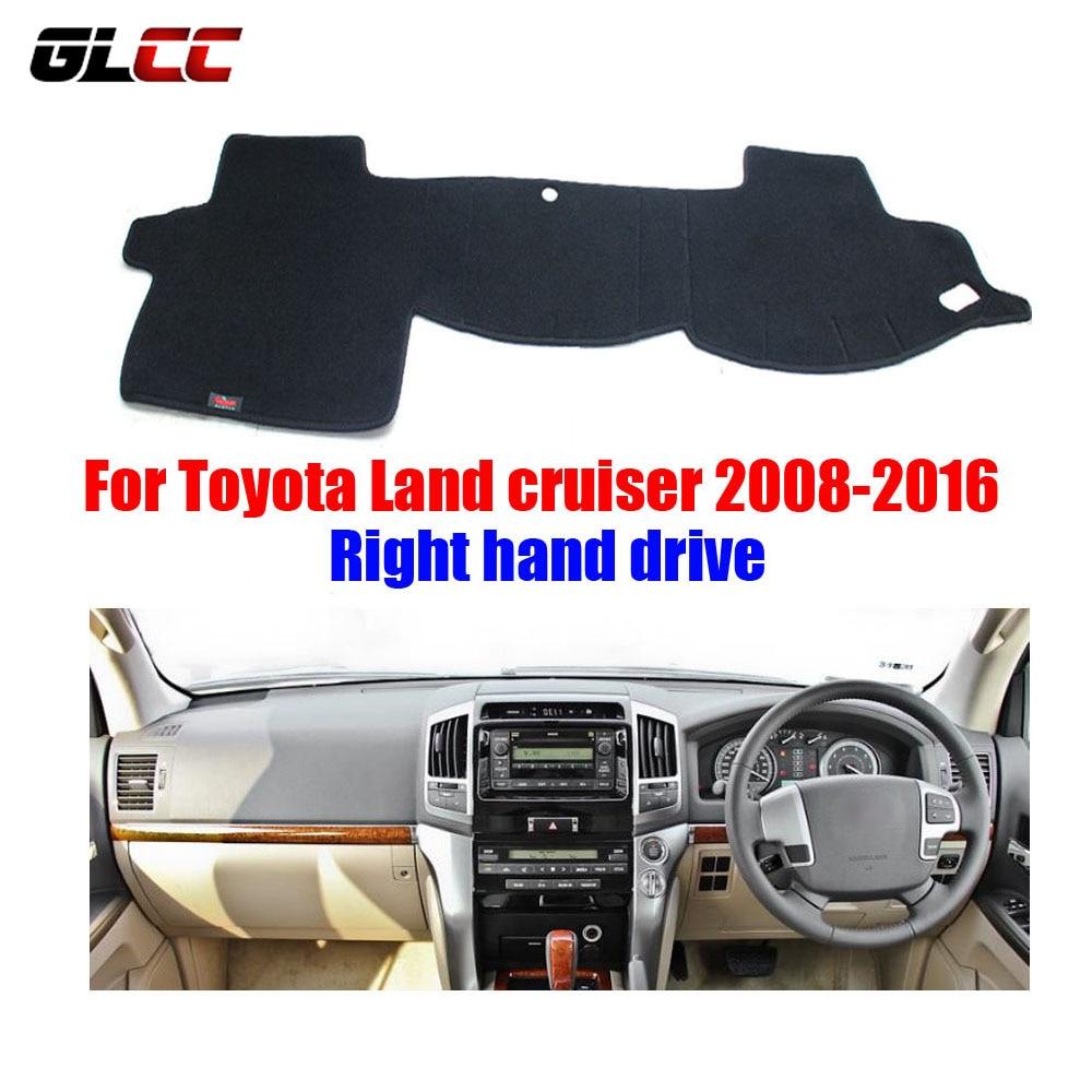 car dashboard cover mat for toyota land cruiser 2008 2016 right hand drive dashmat pad dash mat. Black Bedroom Furniture Sets. Home Design Ideas