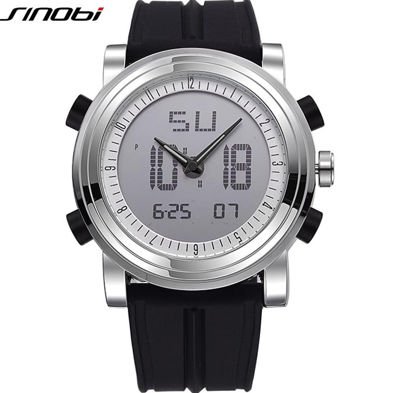 SINOBI Relojes Deportivos para Hombres Marca de Correa de Silicona Reloj Digital 2019 noctilucous Impermeable Reloj de Lujo Hombres Relogios Masculinos