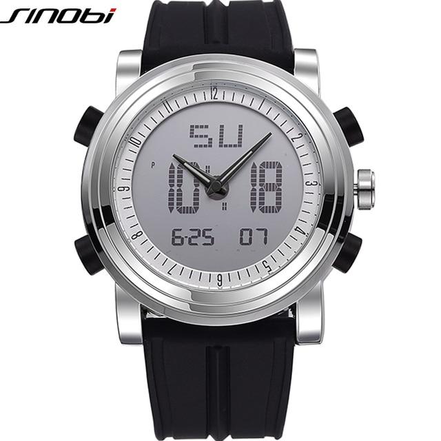 SINOBI Sport Watches for Men Silicone Strap Brand Digital Watch 2019 noctilucous Waterproof Luxury Watch Men Relogios Masculinos
