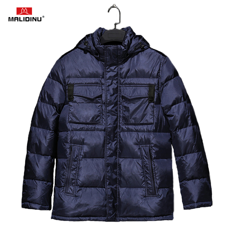 MALIDINU 2018 High Quality Men   Down   Jacket Winter Thick   Down     Coat   Brand 70%White Duck   Down   European Size   Down     Coat   Free Shipping