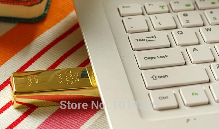 hot sale 1GB 2GB 4GB 8GB 16GB 32GB gold bar usb model usb flash drive pen drive memory stick S68