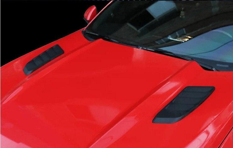 Barre latérale décorative de sortie matérielle d'abs de haute qualité pour la sortie d'air de couverture de Machine de ford mustang 2015 2016 apprêt ou peinture 2017