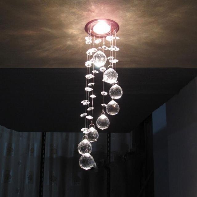Semplice acciaio inox lampadario di cristallo LED k9 cristallo ...