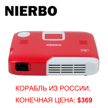 NIERBO 4K Projector Full 3D Mini Portable Projector Android Wifi Wireless Projector 15000mAh Battery for Home Theater Game