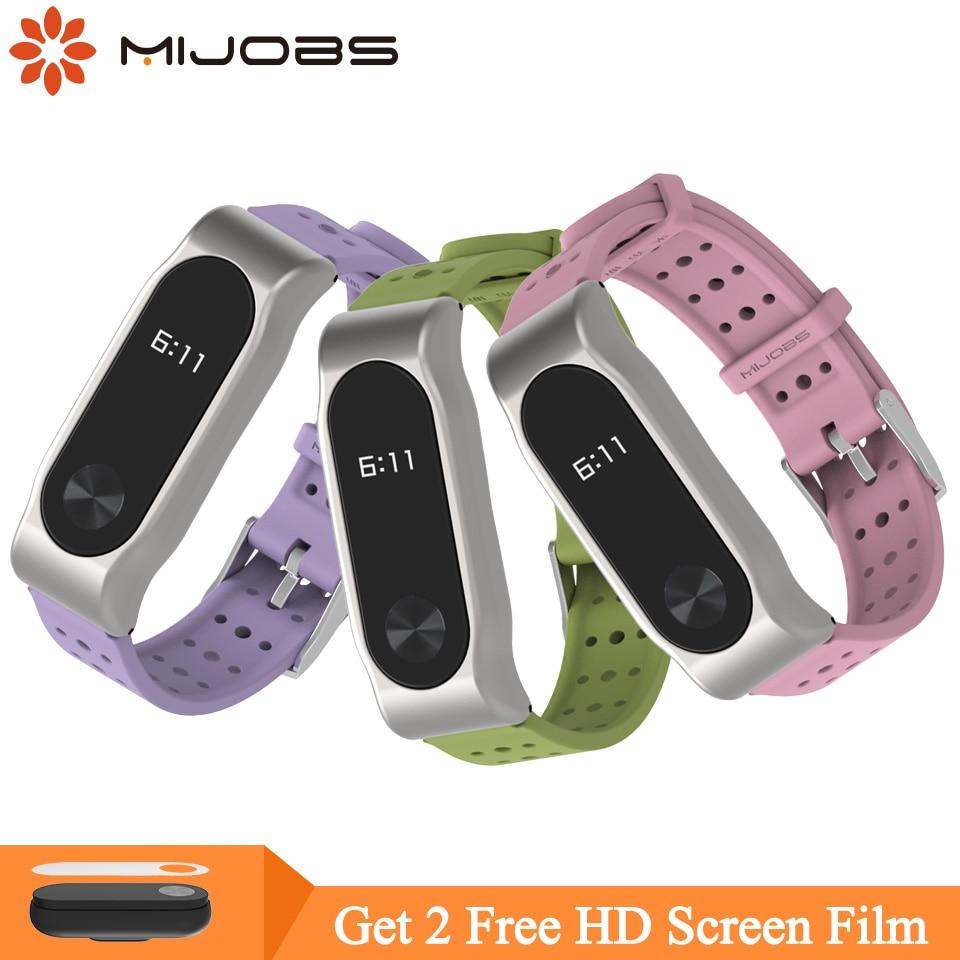 Mijobs Miband 2 Strap For Xiaomi Mi Band 2 Strap Silicone Bracelet Wristbands Wrist Strap For Xiaomi Mi Band 2 Smart Watch