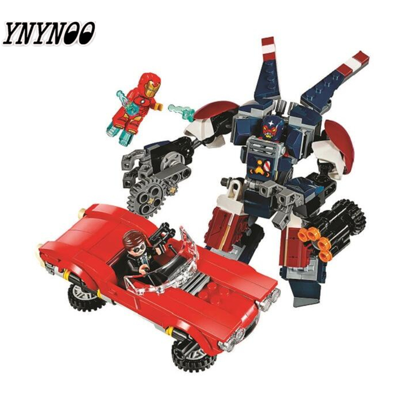 YNYNOO BELA 10674 Batman Super Heroes Iron Man Strikes Building Block 395Pcs DIY Educational Toys For Children