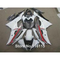 Hot koop ABS kuip kit voor YAMAHA R6 2008-2014 rood wit zwart fairings set YZF R6 08-13 14 #2164 Full injectie