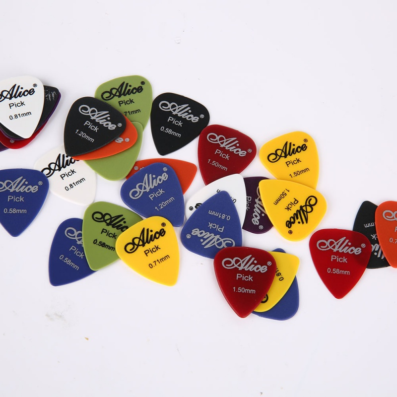 24 30 40 50 100pcs guitar picks case Alice acoustic electric guitar accessories musical instrument thickness 0 58 1 5mm in Guitar Parts Accessories from Sports Entertainment